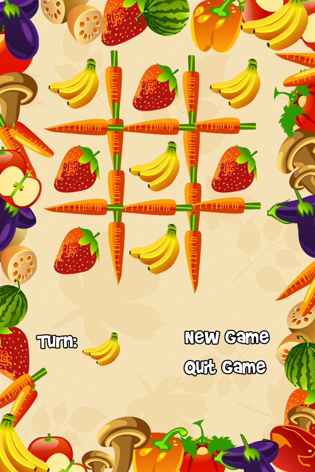 Screenshot Fruit Tac Toe – A Fruity Tic Tac Toe Adventure!